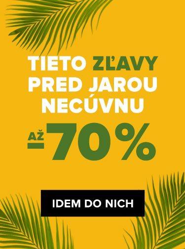 JARNÝ VÝPREDAJ AŽ -70 %