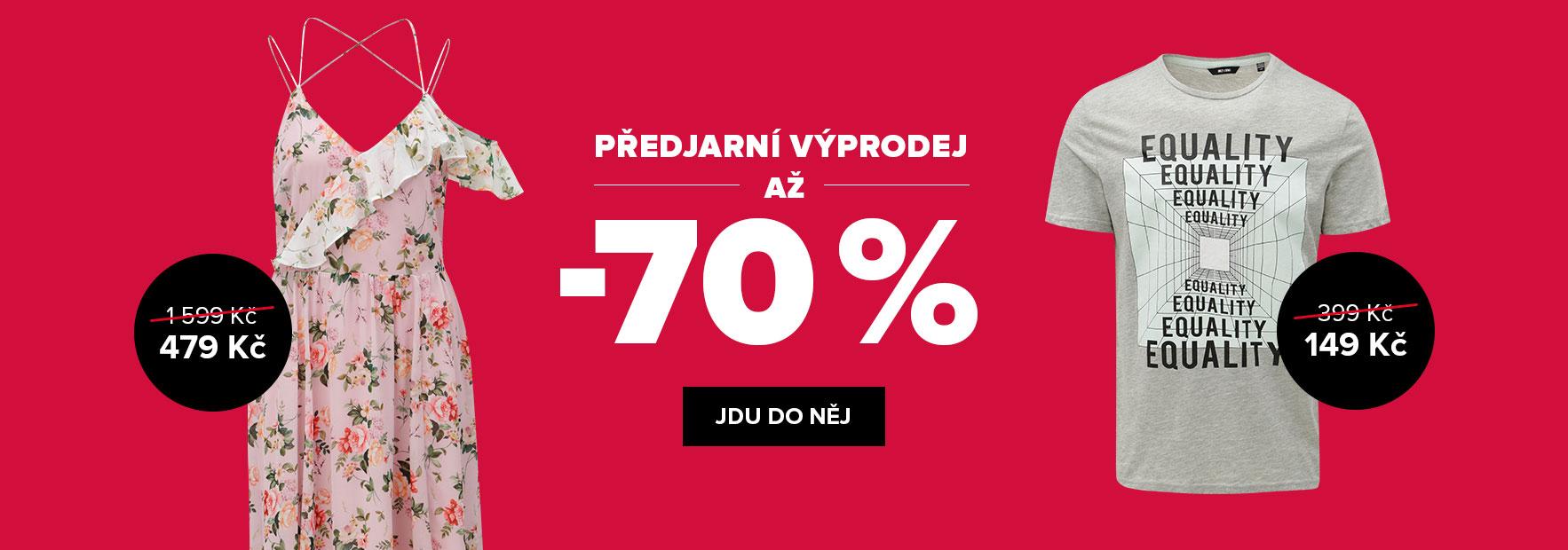 VÝPRODEJ AŽ -70 %