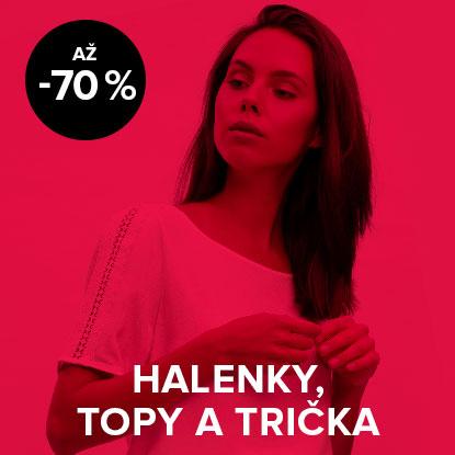 Až 70% sleva na halenky, topy a trička