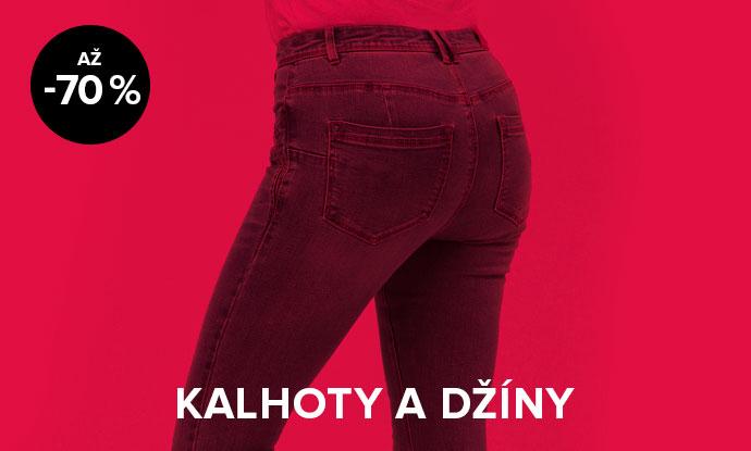 Až 70% sleva na džíny a kalhoty