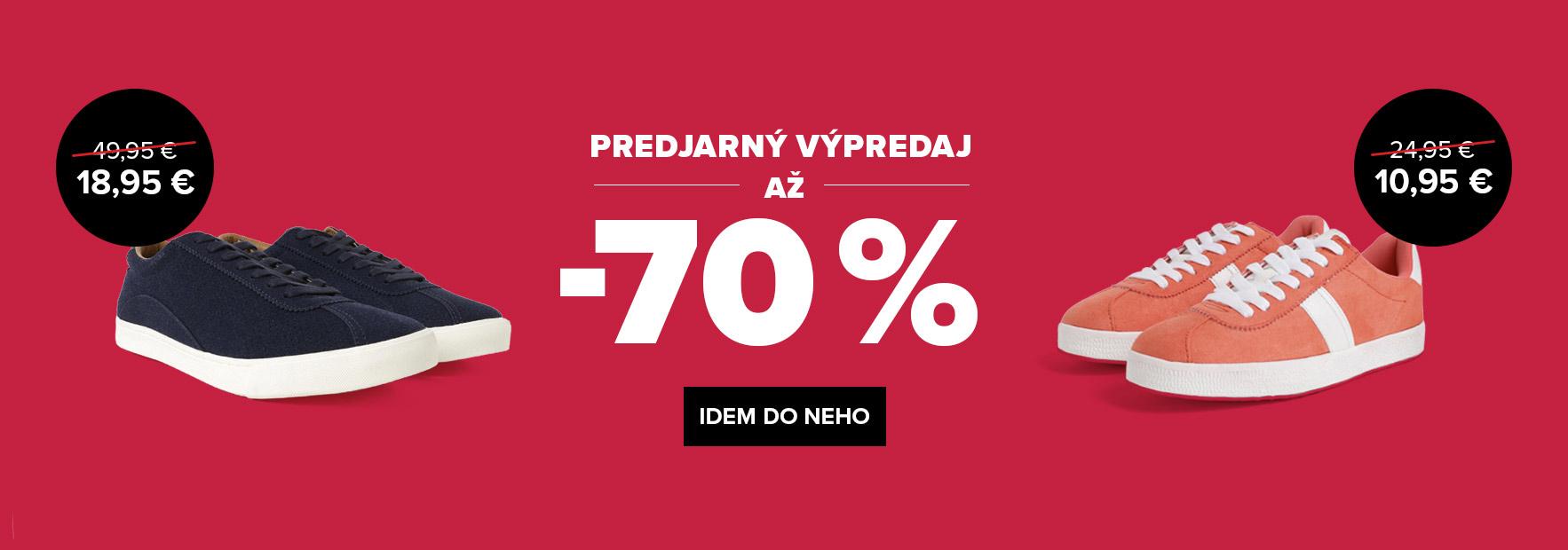 VÝPREDAJ AŽ -70 %
