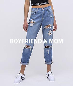 Dámské Boyfriend & Mom džíny