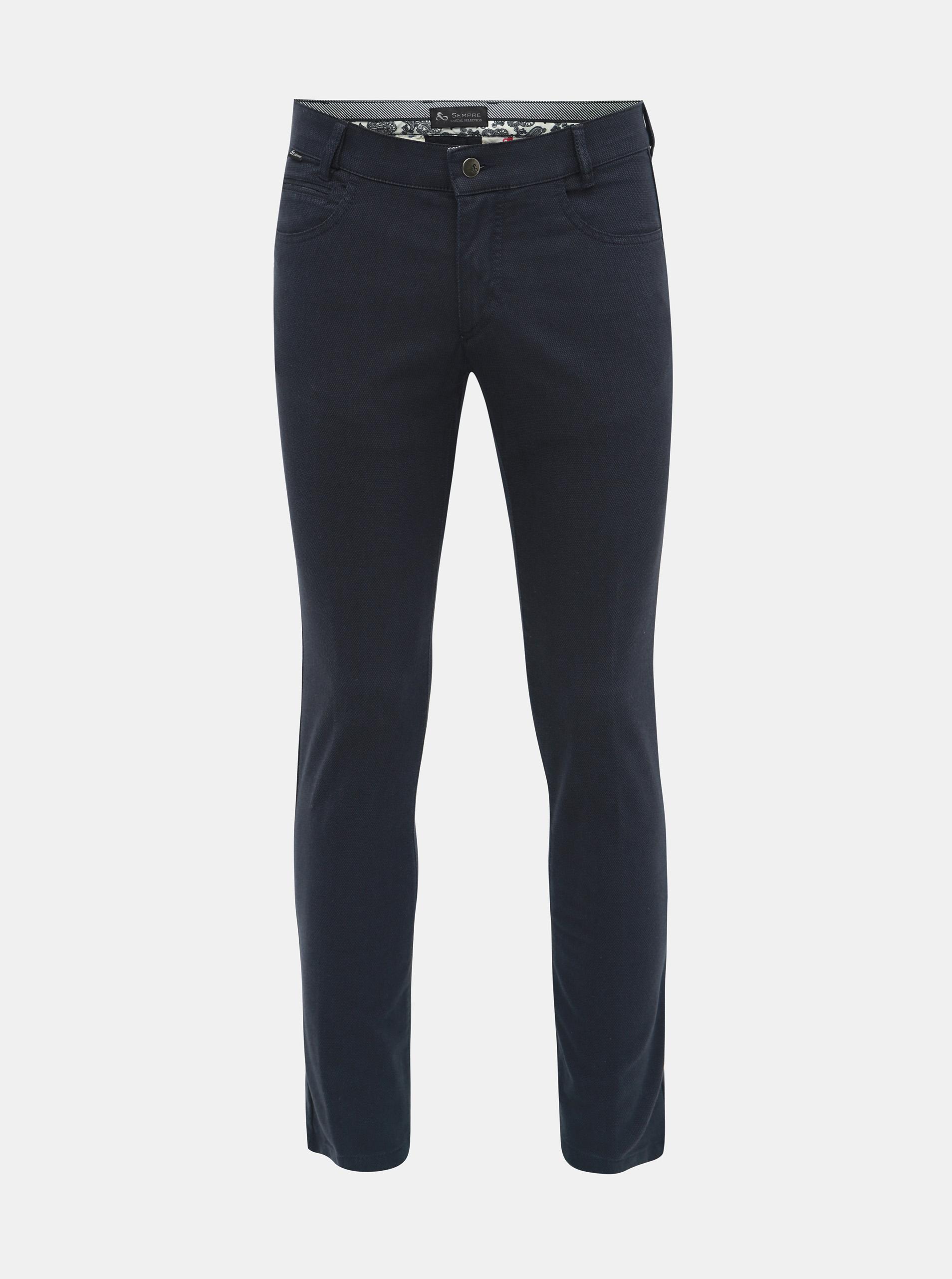 2304cb60c4 Modré chino nohavice SEMPRE Giovanni